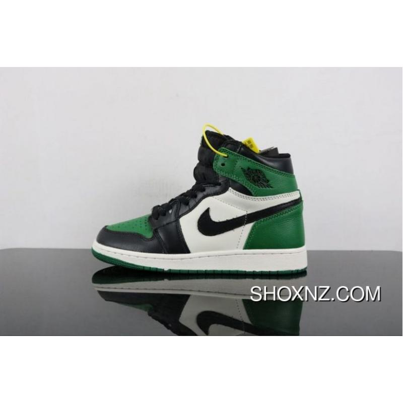 2be3e41c7bc4e5 Air Jordan 1 Pine Green Black Green Toes 555088-302 New Release ...