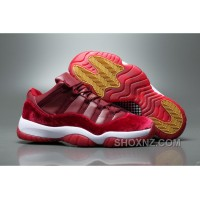 Air Jordan 11 Velvet Heiress Low Burgundy Men Cheap To Buy RYNBm