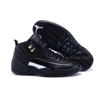 "New Style Air Jordan 12 ""The Master"" Black/Rattan-White-Metallic Gold"