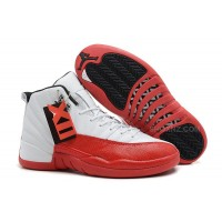Air Jordan 12 Retro White/Varsity Red-Black For Sale