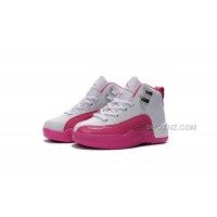 Kids Jordan 12 Shoes Valentine's Day Dynamic Pink For Sale