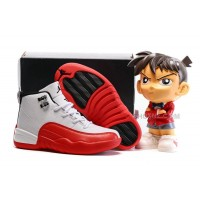 AJ12 kids air jordan 12 White Red 28---35