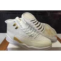 Drake Air Jordan 12 OVO White and Gold For Sale Best Price