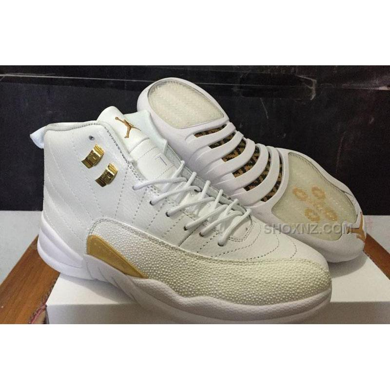 pretty nice ebc06 ef4f0 Drake Air Jordan 12 OVO White and Gold For Sale Best Price