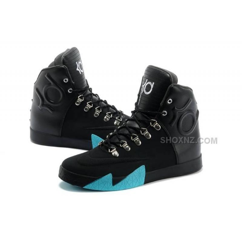 ... Nike KD 6 VI High tops NSW Lifestyle Black Leather QS Anthracite-Gamma  Blue ...