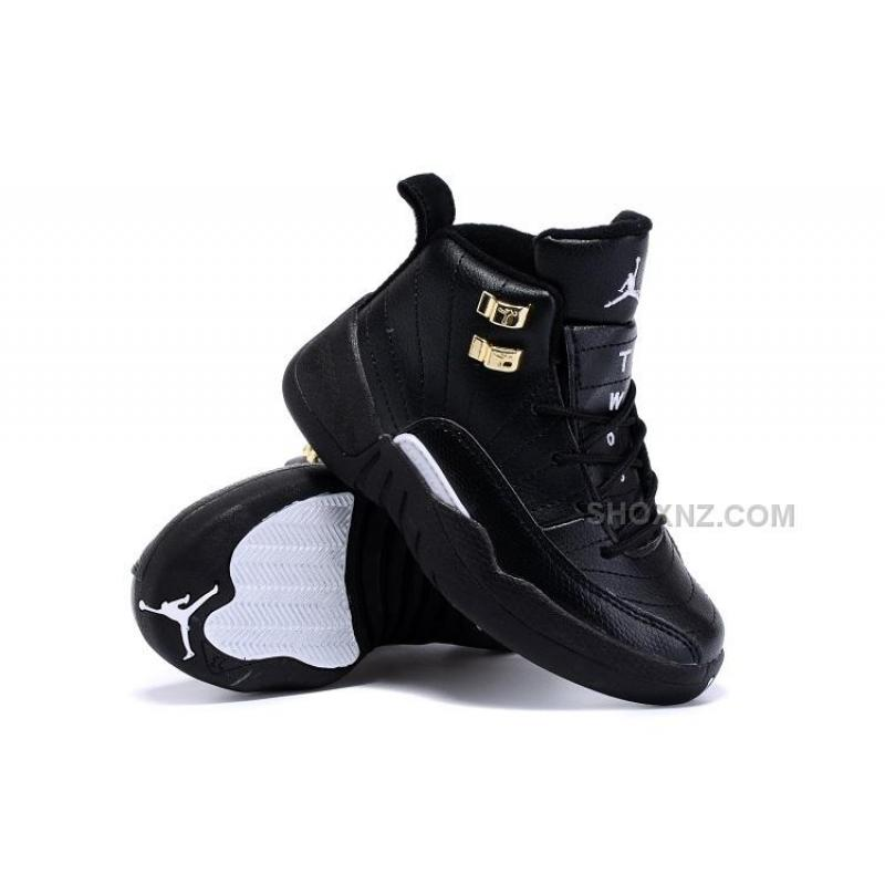 children air jordan 12 black and white nz