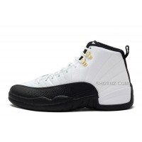 "Cheap Air Jordan 12 Retro ""Taxi"" White-Black For Sale"
