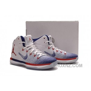 "2017 Air Jordan XXX1 ""Olympic"" USA White/University Red-Deep Royal Blue New Release GZfNPpd"