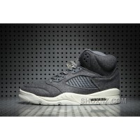 Air Jordan 5 Wool Dark Grey Online 4bexFaJ