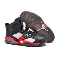 "Air Jordan 6 (VI) Retro Custom ""Angry Birds"" Black-White/Red Specked For Sale Online"