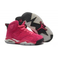 Womens Air Jordan 6 Vivid Pink/White-Black