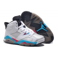 Girls Air Jordan 6 Retro White Blue Red For Sale