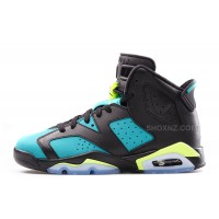 Girls Air Jordan 6  Retro GS Black/Volt Ice-Turbo Green-Black For Sale