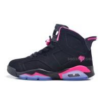 Air Jordan 6 Retro GS Black Pink For Sale In Women Size