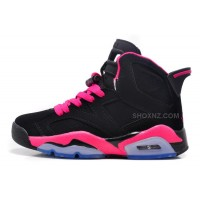 Women Air Jordan 6 Retro GS Black/Fusion Pink For Sale Online