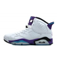 Women Air Jordan 6 Retro GS White Grape Online For Sale