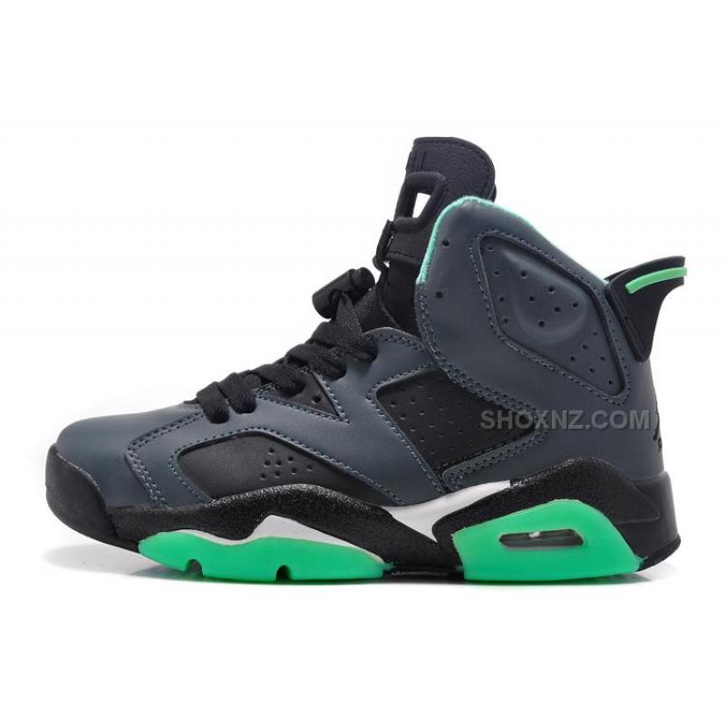 Girls Air Jordan 6 Retro BlackJade Green For Sale