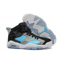 "Womens New Air Jordan 6 Girls Retro ""Leopard Print"" Black Blue White For Sale"