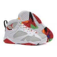 "Air Jordan 7 Girls ""Hare"" White/Light Silver-True Red For Sale In Womens Size"