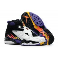 "Air Jordan 8 Retro ""Three-Peat"" White/Infrared 23-Black-Bright Concord"