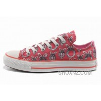Double Tongue Pink CONVERSE Women Dr Suess Cindy Lou Who Canvas 8CmAc
