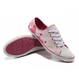 Flats CONVERSE Pink All Star CONVERSE Ballet Flats Girls Shoes Flocking Canvas SreBT