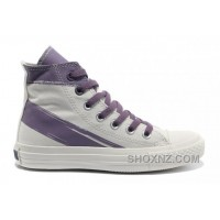 CONVERSE Girls White Purple Painted Shoes Women N2tBJ
