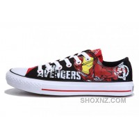 Iron Man CONVERSE Printed The Avengers Comics Black Red Shoes KwYfA
