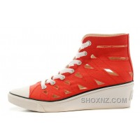 Red CONVERSE All Star Women Mermaid Wedge Heel Chuck Taylor Sandals F4yQ6