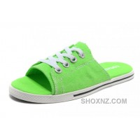 Green CONVERSE Slippers All Star Light Summer Collection By Avril Lavigne Canvas ZA7Gb