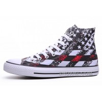 Unisex Red CONVERSE American Flag Print Chuck Taylor All Star ISExW