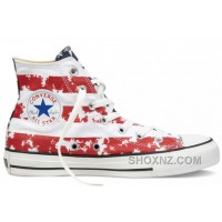 CONVERSE American Flag Red White Blue Chuck Taylor All Star Canvas Shoes XfQ86