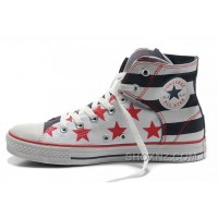 Easy Slip CONVERSE American Flag Chuck Taylor Black Red Bule Canvas Shoes WBM8Z
