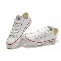 White Leather CONVERSE All Star Overseas Edition Monochrome Sneakers DWZSm