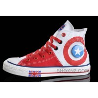 CONVERSE British Flag White Red Tonal Stitching Canvas Harper Beckham MyYbk