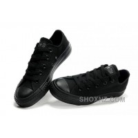Black CONVERSE All Star Monochromatic Canvas Sneakers QYB3C