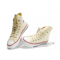 Beige CONVERSE Chuck Taylor All Star Unbleached White Canvas Shoes NZZnC