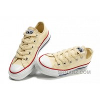 Beige CONVERSE Chuck Taylor All Star Unbleached White Canvas Shoes BBW6h