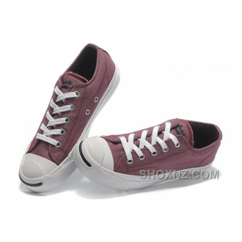 Red CONVERSE Jack Purcell Vintage Washed Canvas Shoes K3btd