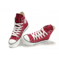 CONVERSE Chuck Taylor All Star Maroon Canvas Shoes 8RA5e