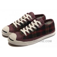 CONVERSE Jack Purcell Scotland Plaid Canvas Leather 4tB8d