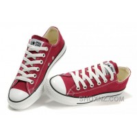 CONVERSE Chuck Taylor All Star Maroon Canvas Shoes TYSKm
