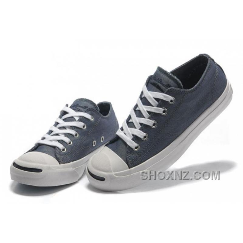 Blue CONVERSE Jack Purcell Vintage Washed Canvas Shoes AM7CP