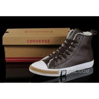 Brown Soft Nap CONVERSE Winter All Star Shearling Leather Shoes PS8jR