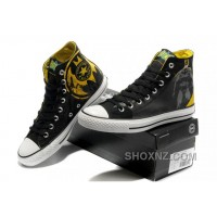 Chuck Taylor DC Comics CONVERSE Batman Graffiti Print Black Yellow Canvas Shoes EjzhH