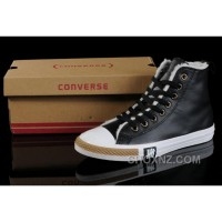 Black Soft Nap CONVERSE Winter All Star Shearling Leather Shoes F6NBy