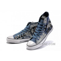 Blue CONVERSE Superman Printed DC Heroes All Star Canvas Shoes RSQFY
