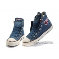 Blue CONVERSE Superman Chuck Taylor All Star Canvas Shoes WfkEE