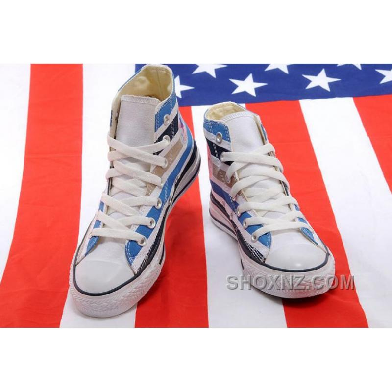 ... Paris Loves America Concepts & La MJC CONVERSE American Flag Chuck  Taylor All Star Blue White