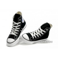 Black CONVERSE High Tops Chuck Taylor All Star Canvas Shoes Wsjnp